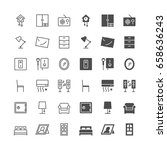 home furniture icons  included... | Shutterstock .eps vector #658636243