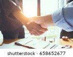 business engineer team shaking... | Shutterstock . vector #658652677