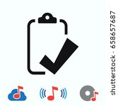 checklist icon  stock vector... | Shutterstock .eps vector #658657687