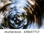 autumn leaves in radial motion...