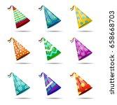 vector set of realistic... | Shutterstock .eps vector #658668703