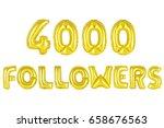 gold alphabet balloons  4000 ... | Shutterstock . vector #658676563