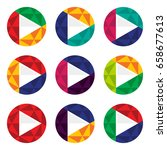 icon play button in varied... | Shutterstock .eps vector #658677613