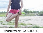backside of sport girl... | Shutterstock . vector #658680247