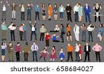 vector  isolated  collection... | Shutterstock .eps vector #658684027