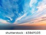 Sky Background On Sunset....