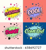 vector of caption in the pastel ... | Shutterstock .eps vector #658692727