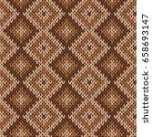 knitting seamless vector... | Shutterstock .eps vector #658693147