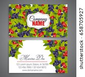floral business card template... | Shutterstock .eps vector #658705927