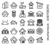 real icons set. set of 25 real... | Shutterstock .eps vector #658708393