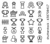prize icons set. set of 25... | Shutterstock .eps vector #658708417