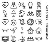 life icons set. set of 25 life... | Shutterstock .eps vector #658711297
