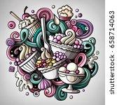 cartoon cute doodles hand drawn ...   Shutterstock .eps vector #658714063