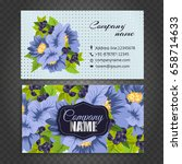 floral style business card... | Shutterstock .eps vector #658714633
