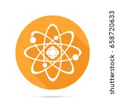 atom icon. science sign. atom... | Shutterstock .eps vector #658720633
