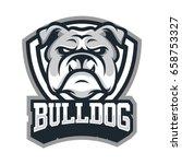 bulldog wild animal head mascot ...   Shutterstock .eps vector #658753327