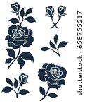 flower motif sketch for design | Shutterstock .eps vector #658755217