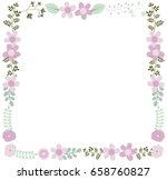elegant vector floral frame... | Shutterstock .eps vector #658760827