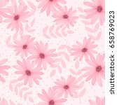 seamless spring background with ... | Shutterstock .eps vector #658769023