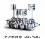 v4 engine pistons and... | Shutterstock . vector #658770367
