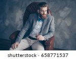 successful young red bearded... | Shutterstock . vector #658771537