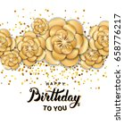 gold lotus flower invitation... | Shutterstock .eps vector #658776217