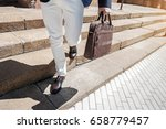 stylish male person carrying... | Shutterstock . vector #658779457