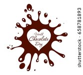 world chocolate day. ... | Shutterstock . vector #658781893
