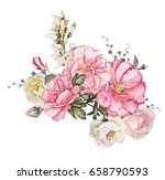 watercolor flowers isolated on... | Shutterstock . vector #658790593