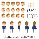 businessman in blue suit...   Shutterstock .eps vector #658790827