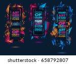 futuristic frame art design...   Shutterstock .eps vector #658792807