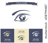 eye icon. look at the world... | Shutterstock .eps vector #658794487