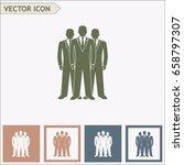 businessman vector icon | Shutterstock .eps vector #658797307