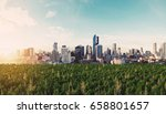 panoramic modern city in... | Shutterstock . vector #658801657