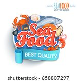 seafood best quality logo.... | Shutterstock .eps vector #658807297