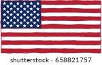 carelessly  hastily  painted... | Shutterstock .eps vector #658821757