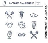 lacrosse sport game vector line ... | Shutterstock .eps vector #658826527