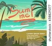 summer vacation concept... | Shutterstock .eps vector #658829377