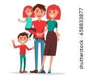 parents' day poster vector... | Shutterstock .eps vector #658833877