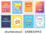 happy friendship day greeting... | Shutterstock .eps vector #658833943
