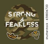 military typography slogan... | Shutterstock .eps vector #658836733