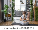 portrait of a relaxed candid... | Shutterstock . vector #658842817
