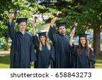 group of diverse international... | Shutterstock . vector #658843273