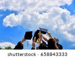 graduation student commencement ... | Shutterstock . vector #658843333