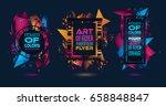 futuristic frame art design... | Shutterstock . vector #658848847
