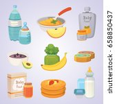 juices and purees from green... | Shutterstock .eps vector #658850437