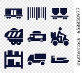 delivery icons set. set of 9...   Shutterstock .eps vector #658850977