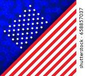 flag of usa  vector... | Shutterstock .eps vector #658857037