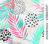 abstract summer seamless... | Shutterstock .eps vector #658863547