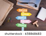 languages concept  english ... | Shutterstock . vector #658868683